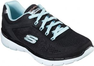 Skechers Womens 13059 BKTQ Black Turquoise Moving Fast Flex Appeal 3.0 Trainers